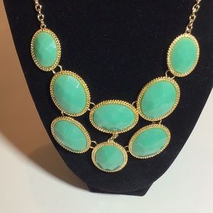 Monet green and gold necklace new